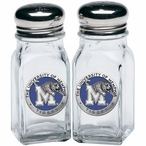 University of Memphis Tigers Blue Pewter Accent Salt & Pepper Shakers