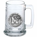 University of Memphis Tigers Pewter Accent Glass Beer Mug
