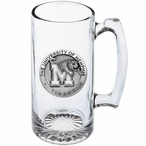 University of Memphis Tigers Pewter Accent Glass Super Beer Mug