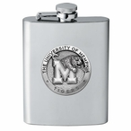 University of Memphis Tigers Stainless Steel Flask with Pewter Accent