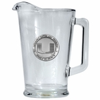 University of Miami Hurricanes Glass Pitcher with Pewter Accent