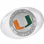 University of Miami Hurricanes Orange Pewter Accent Paperweight