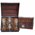University of Miami Hurricanes Pewter Accent Beer Chest Box Set