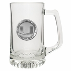 University of Miami Hurricanes Pewter Accent Glass Super Beer Mug