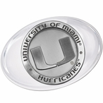University of Miami Hurricanes Pewter Accent Paperweight