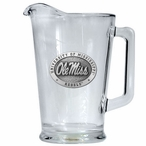 University of Mississippi Rebels Glass Pitcher with Pewter Accent