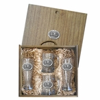 University of Mississippi Rebels Pewter Accent Beer Box Set