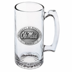 University of Mississippi Rebels Pewter Accent Glass Super Beer Mug