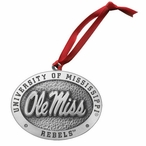 University of Mississippi Rebels Pewter Accent Ornaments, Set of 2