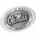 University of Mississippi Rebels Pewter Accent Paperweight