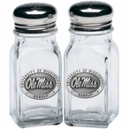 University of Mississippi Rebels Pewter Accent Salt & Pepper Shakers
