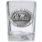 University of Mississippi Rebels Pewter Accent Shot Glasses, Set of 4