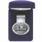 University of Mississippi Rebels Pewter Accent Steel Money Clip
