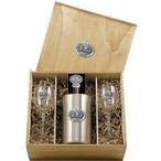 University of Mississippi Rebels Pewter Accent Wine Box Set