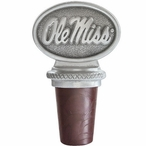University of Mississippi Rebels Pewter Wine Bottle Stopper