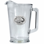 University of Missouri Tigers Glass Pitcher with Pewter Accent