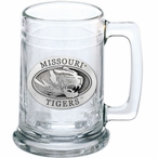 University of Missouri Tigers Pewter Accent Glass Beer Mug