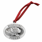 University of Missouri Tigers Pewter Accent Ornaments, Set of 2