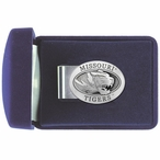 University of Missouri Tigers Pewter Accent Steel Money Clip