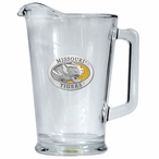 University of Missouri Tigers Yellow Glass Pitcher with Pewter Accent