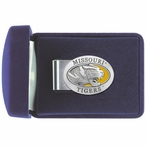 University of Missouri Tigers Yellow Pewter Accent Steel Money Clip