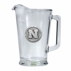 University of Nebraska Cornhuskers Glass Pitcher with Pewter Accent