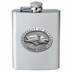 University of Nevada Wolf Pack Stainless Steel Flask w/ Pewter Accent