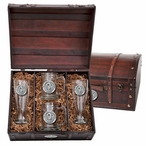 University of Oklahoma Sooners Pewter Accent Beer Chest Box Set