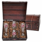 University of Oklahoma Sooners Red Pewter Accent Beer Chest Box Set