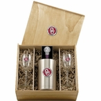 University of Oklahoma Sooners Red Pewter Accent Wine Box Set