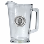University of Oregon Ducks Glass Pitcher with Pewter Accent
