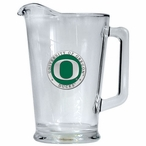University of Oregon Ducks Green Glass Pitcher with Pewter Accent