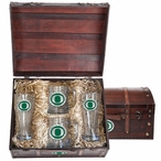 University of Oregon Ducks Green Pewter Accent Beer Chest Box Set