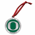 University of Oregon Ducks Green Pewter Accent Ornaments, Set of 2