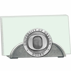 University of Oregon Ducks Metal Business Card Holder w/ Pewter Accent