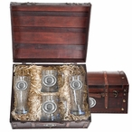University of Oregon Ducks Pewter Accent Beer Chest Box Set