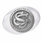 University of South Carolina Gamecocks Logo Pewter Accent Paperweight