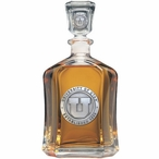 University of Utah Utes Capitol Glass Decanter with Pewter Accents