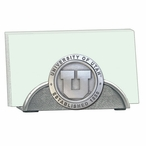 University of Utah Utes Metal Business Card Holder with Pewter Accent