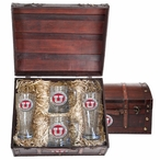 University of Utah Utes Red Pewter Accent Beer Chest Box Set