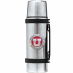 University of Utah Utes Red Pewter Accent Stainless Steel Thermos