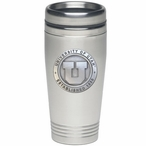 University of Utah Utes Stainless Steel Travel Mug with Pewter Accent