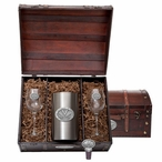 University of Virginia Cavaliers Pewter Accent Wine Chest Set