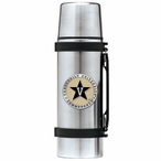 Vanderbilt Commodores Black Pewter Accent Stainless Steel Thermos