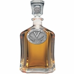 Virginia Cavaliers Capitol Glass Decanter with Pewter Accents