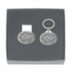 Virginia Cavaliers Pewter Accent Money Clip & Key Chain Gift Set