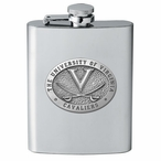 Virginia Cavaliers Stainless Steel Flask with Pewter Accent