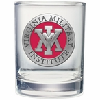 Virginia Military Institute Keydets Red Pewter DOF Glasses, Set of 2