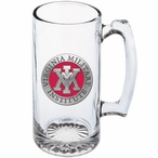 Virginia Military Institute Keydets Red Pewter Glass Super Beer Mug
