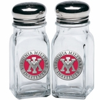 Virginia Military Institute Keydets Red Pewter Salt & Pepper Shakers